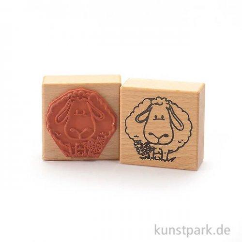 Stempel - Nettes Schaf - 6x6 cm