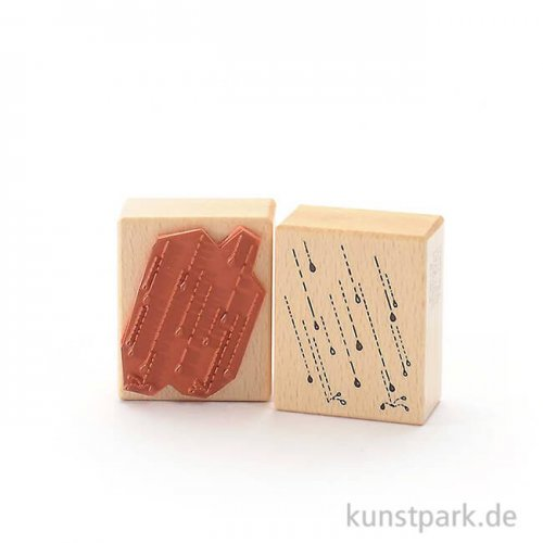Stempel - Regentropfen - 5x6 cm