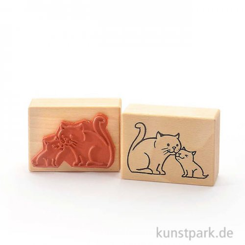 Stempel - Schmusekatzen, 5x7 cm