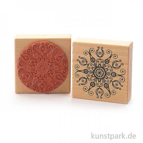 Stempel - Schnörkel Mandala - 8x8 cm