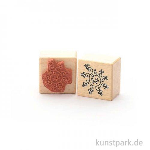 Stempel - Schnörkel Muster - 4x4 cm