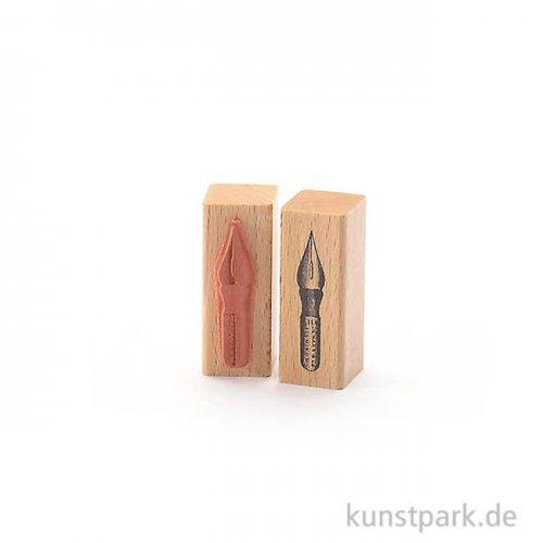 Stempel - Schreibfeder - 2x2 cm