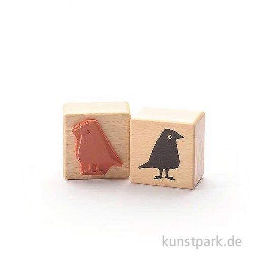 Stempel - Schwarzer Vogel, 4x4 cm
