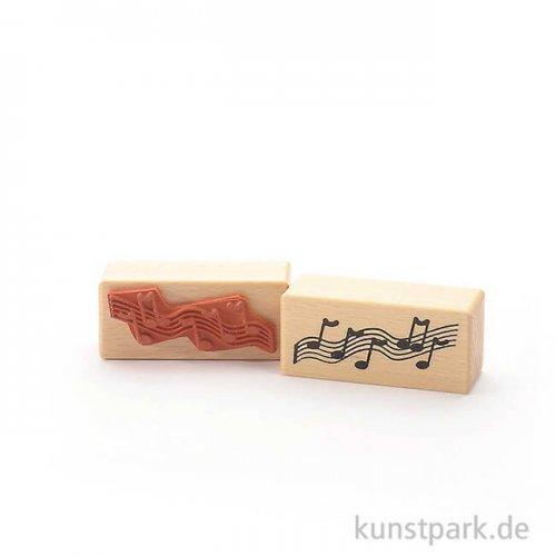 Stempel - Schwungvolle Noten - 3x7 cm