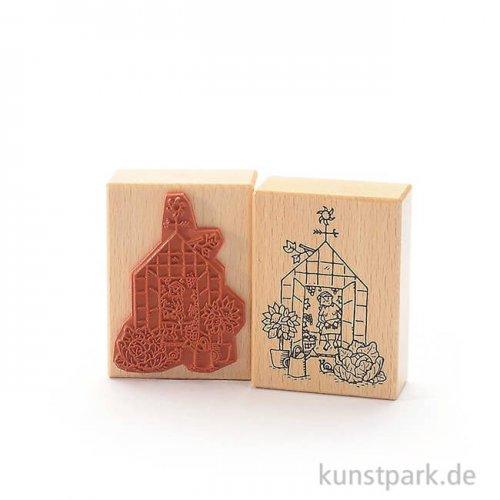 Stempel - Tina - Mädchen im Gewächshaus - 6x8 cm