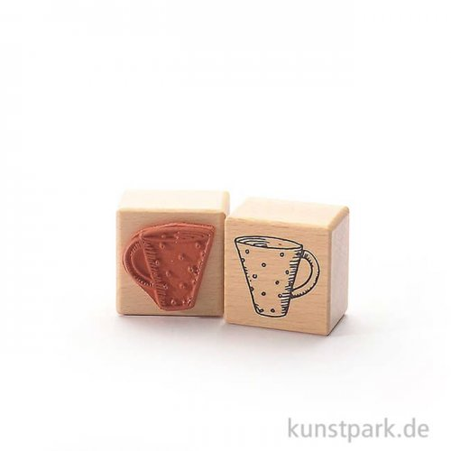 Stempel - Tina - Tasse mit Punkten - 4x4 cm