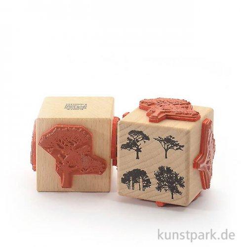 Stempel - Vier Bäume - Würfel