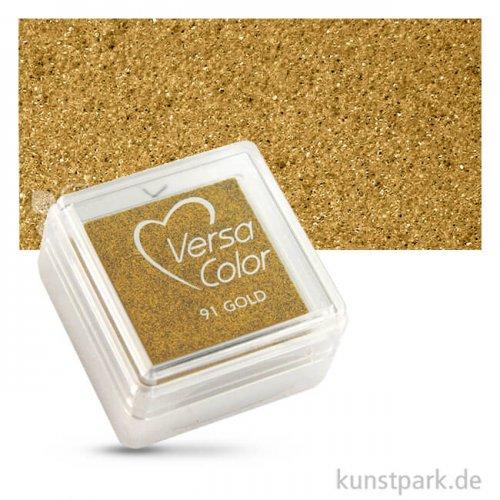 Stempelkissen Versacolor 2,5 x 2,5 cm | Brillant Gold