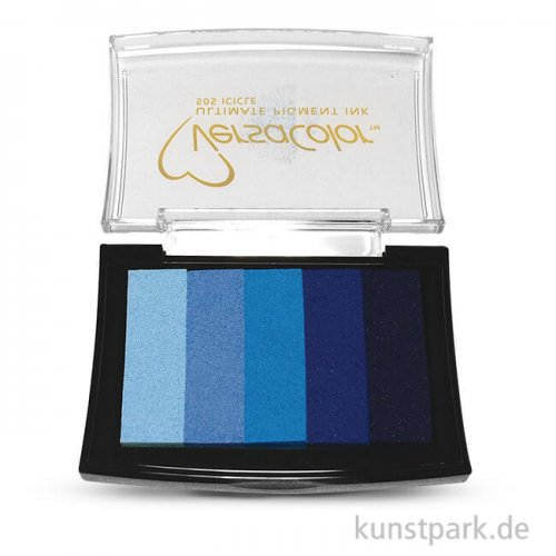 Stempelkissen Versacolor - Blau-Töne, 5 Farben sortiert