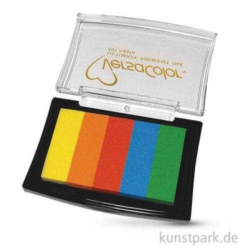 Stempelkissen Versacolor - Regenbogen, 5 Farben sortiert