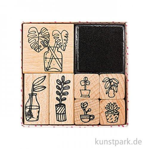 Stempelset - Hygge Plants mit 7 Stempel