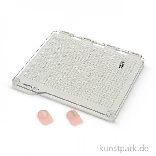 Stempelwerkzeug mit 2 Magneten, DIN A5, 3-teilig