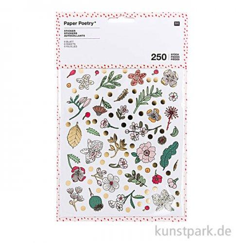 Sticker - Hygge Flowers, 6 Blatt