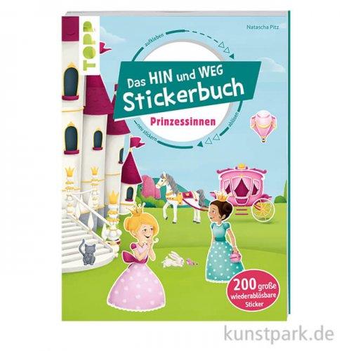 Das HIN und WEG Stickerbuch - Prinzessinnen, Topp Verlag