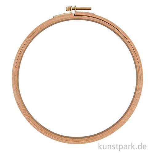 Punch Needle Stickring aus Holz, Durchmesser 21,5 cm