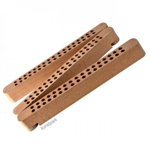 Stifte und Pinselhalter aus Buchenholz mit 102 Fächern, klappbar