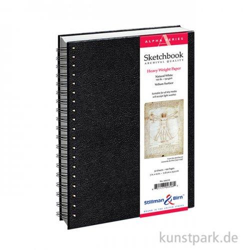 Stillman & Birn Skizzenbuch ALPHA Spiral, 50 Blatt, 150 g 15,2 x 20,3 cm