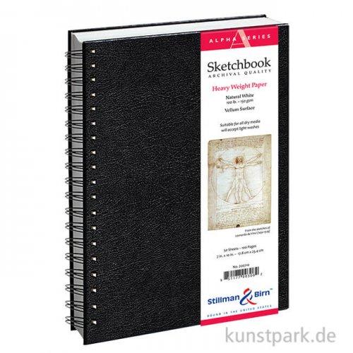Stillman & Birn Skizzenbuch ALPHA Spiral, 50 Blatt, 150 g 22,9 x 30,5 cm