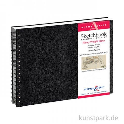 Stillman & Birn Skizzenbuch ALPHA Spiral, 50 Blatt, 150 g 25,4 x 17,8 cm, quer