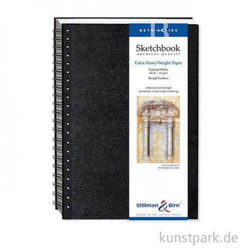 Stillman & Birn Skizzenbuch BETA Spiral, 25 Blatt, 270 g 17,8 x 25,4 cm