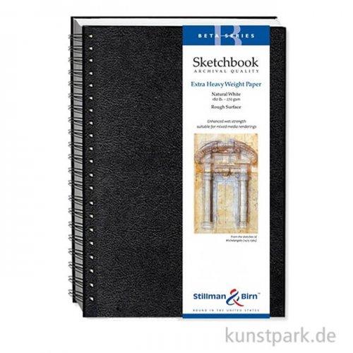 Stillman & Birn Skizzenbuch BETA Spiral, 25 Blatt, 270 g 22,9 x 30,5 cm