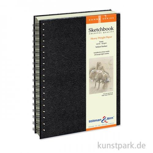Stillman & Birn Skizzenbuch GAMMA Spiral, 50 Blatt, 150 g 17,8 x 25,4 cm