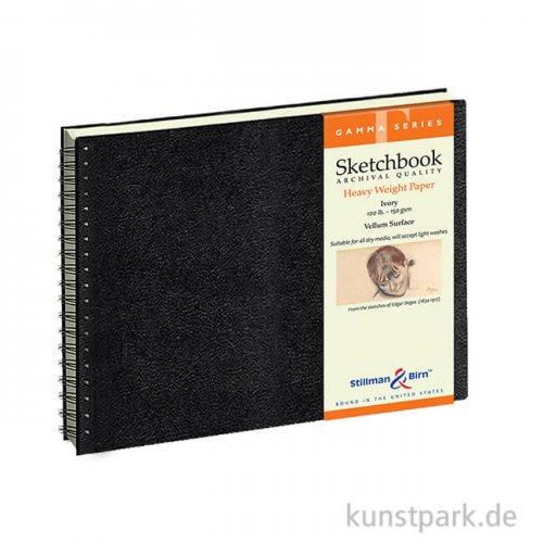 Stillman & Birn Skizzenbuch GAMMA Spiral, 50 Blatt, 150 g 25,4 x 17,8 cm, quer