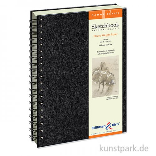 Stillman & Birn Skizzenbuch GAMMA Spiral, 50 Blatt, 150 g