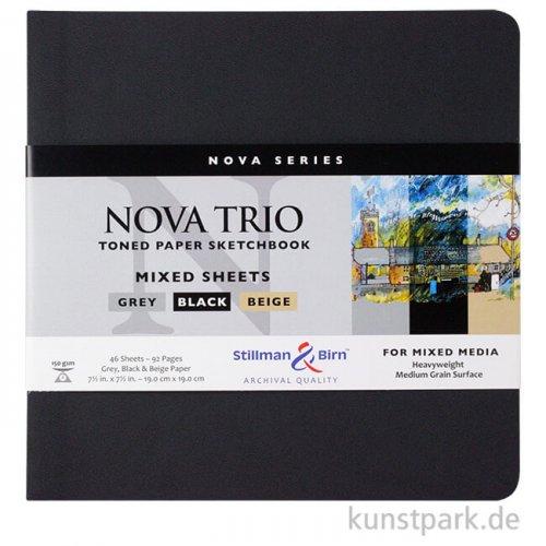 Stillman & Birn Nova Skizzenbuch Trio Softcover 19x19 cm