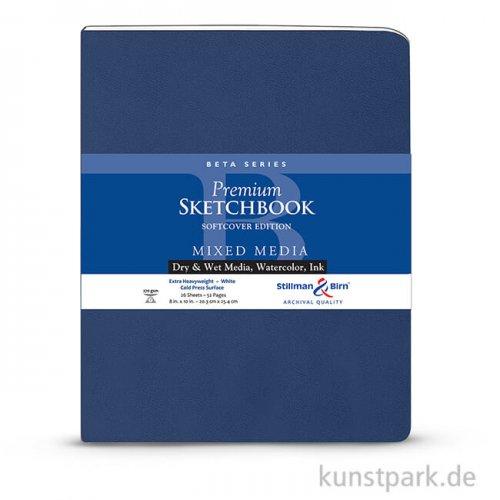 Stillman & Birn Skizzenbuch Softcover BETA, 28 Blatt, 270 g 20,3 x 25,3 cm