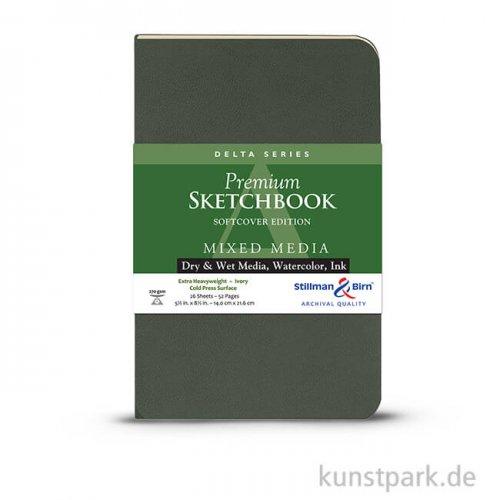 Stillman & Birn Skizzenbuch Softcover DELTA, 28 Blatt, 270 g