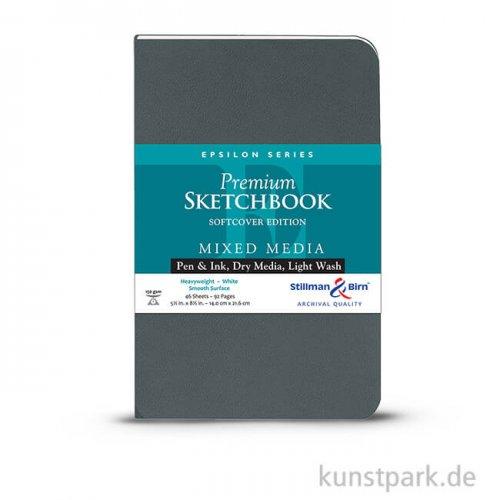Stillman & Birn Skizzenbuch Softcover EPSILON, 48 Blatt, 150 g 21,6 x 14,0 cm