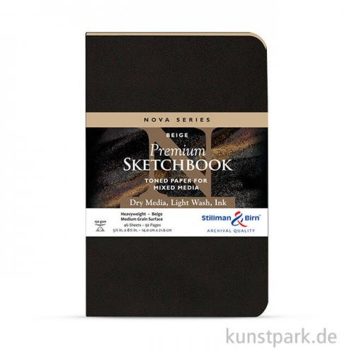 Stillman & Birn Skizzenbuch Softcover Nova Beige, 48 Blatt, 150g 14,0 x 21,6 cm
