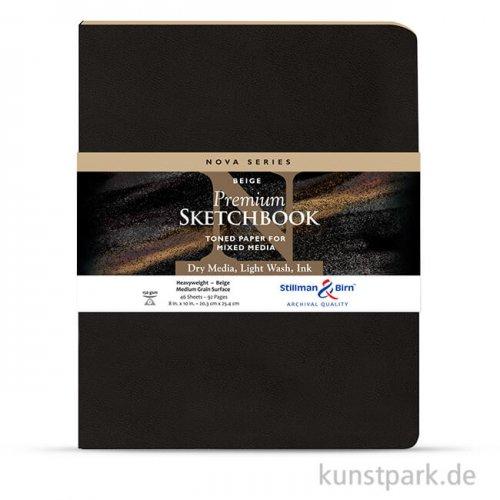 Stillman & Birn Skizzenbuch Softcover Nova Beige, 48 Blatt, 150g 20,3 x 25,3 cm