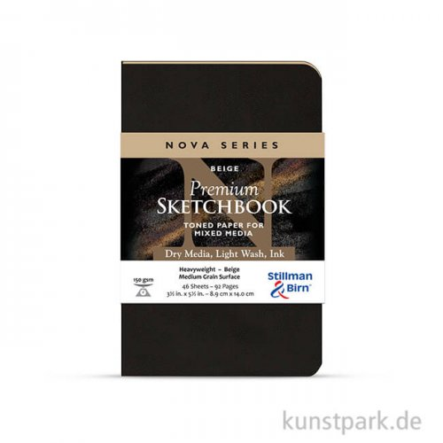 Stillman & Birn Softcover Nova Beige, 48 Blatt, 150g 8,9 x 14,0 cm