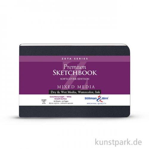 Stillman & Birn Skizzenbuch Softcover ZETA, 28 Blatt, 270 g 21,6 x 14,0 cm