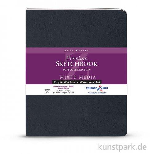 Stillman & Birn Skizzenbuch Softcover ZETA, 28 Blatt, 270 g 20,3 x 25,3 cm