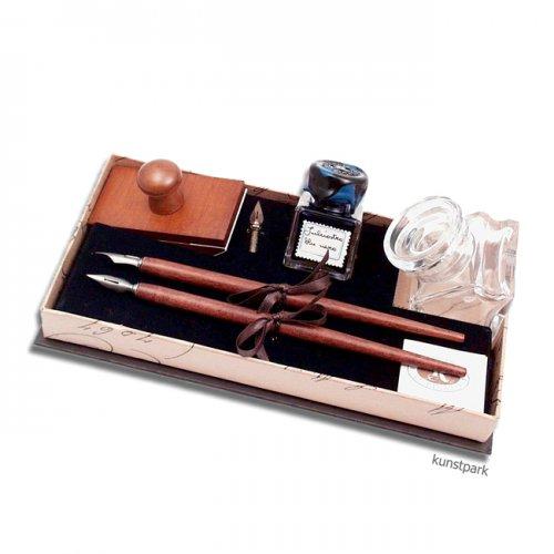 Stilvolles Rubinato Kalligrafie-Set, 8 teilig in luxuriöser Geschenkbox