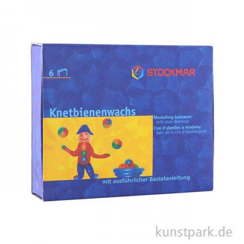Stockmar Knetbienenwachs, 6 Farben in der Schiebeschachtel, 125 g