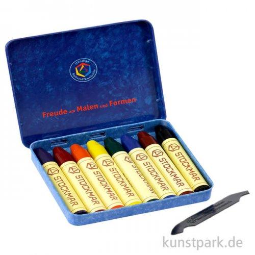 Stockmar Wachsmalstifte, 8 Farben im Metalletui