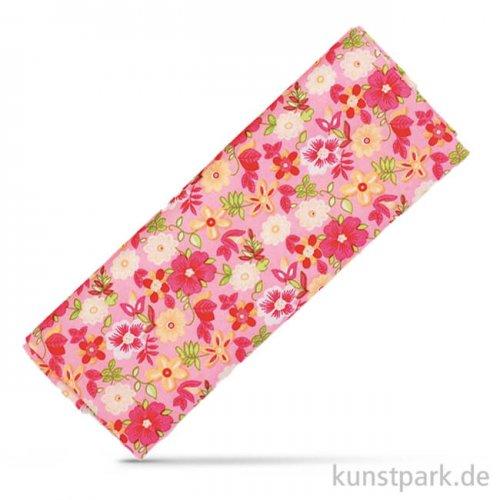 Stoffzuschnitt 100x150 cm - Blumen Rosa-Pink
