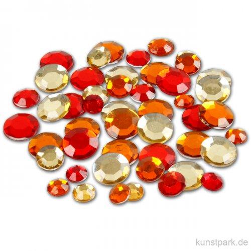 Strasssteine - rote Kreise, 360 Stück