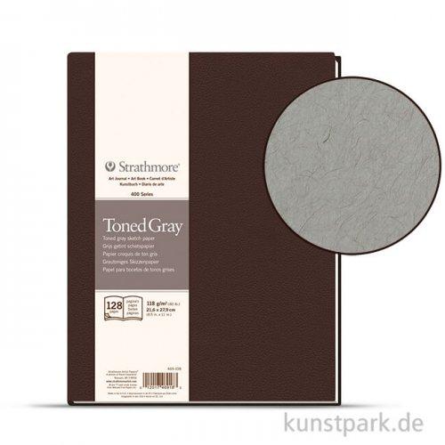 Strathmore Art Journal 400 - Skizzenpapier Grey, 64 Seiten, 21,6x27,94 cm, 118g