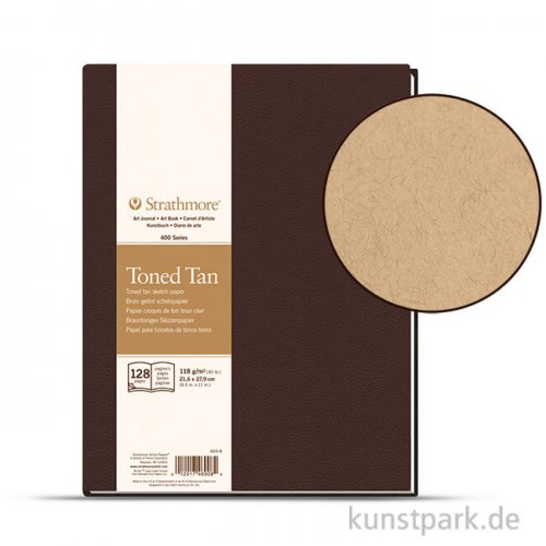 Strathmore Art Journal 400 - Skizzenpapier Tan, 64 Seiten, 21,6x27,94 cm, 118g