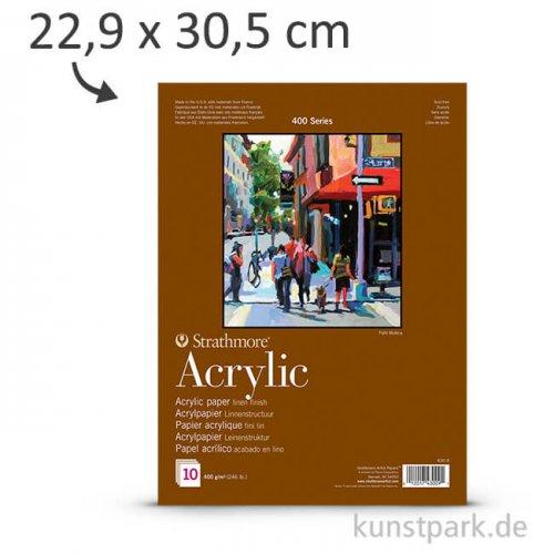 Strathmore Artist Paper 400 - Acrylmalpapier, 10 Blatt, 400g 22,9 x 30,5 cm