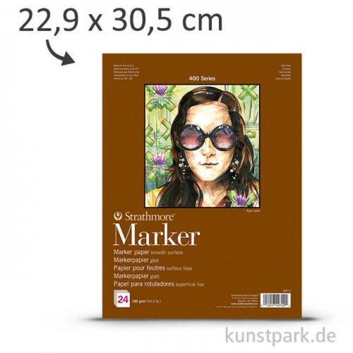 Strathmore Artist Paper 400 - Markerpapier, 24 Blatt, 190g 22,9 x 30,5 cm
