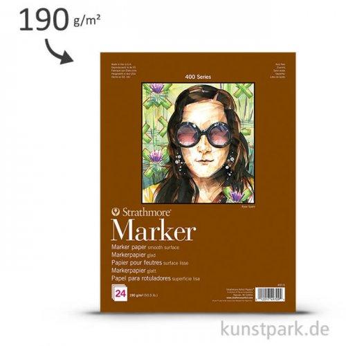 Strathmore Artist Paper 400 - Markerpapier, 24 Blatt, 190g