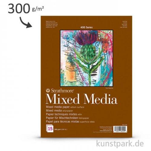 Strathmore Artist Paper 400 - Mixed Media Papier, 15 Blatt, 300g