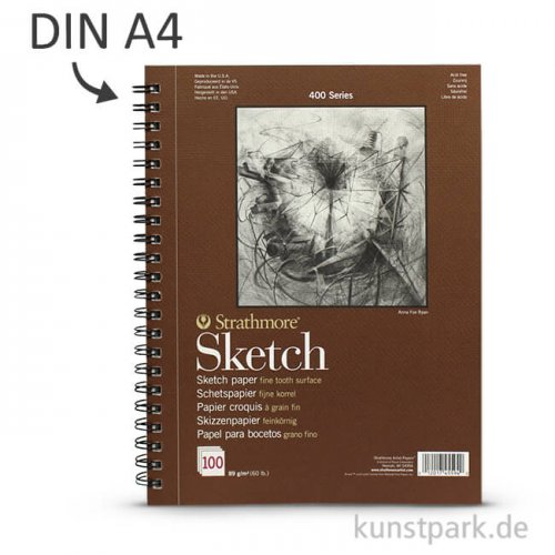 Strathmore Artist Paper 400 - Skizzenpapier, 100 Blatt, 89g DIN A4