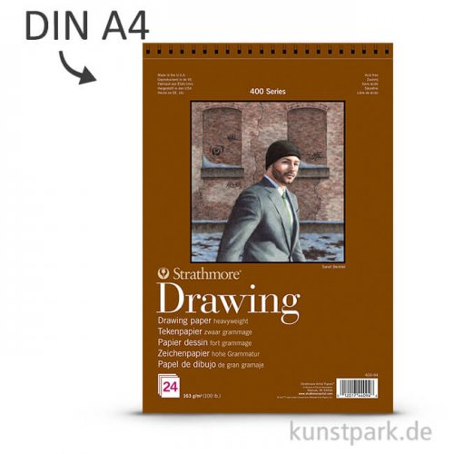 Strathmore Artist Paper 400 - Zeichenpapier, 24 Blatt, 163g DIN A4